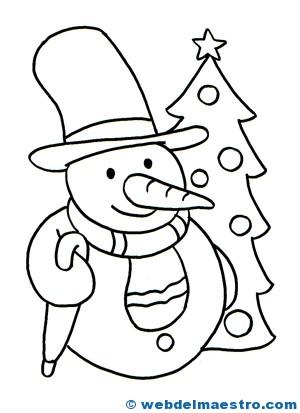 Tarjetas de navidad para colorear - Web del maestro