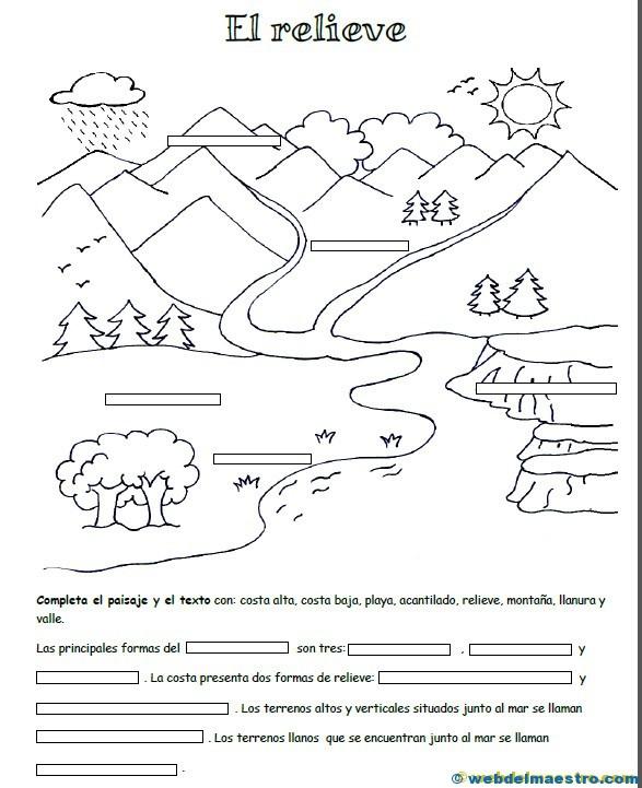 Relieve para primaria - Web del maestro