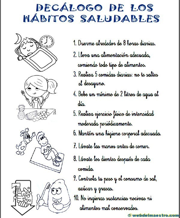 Hábitos Saludables Web Del Maestro