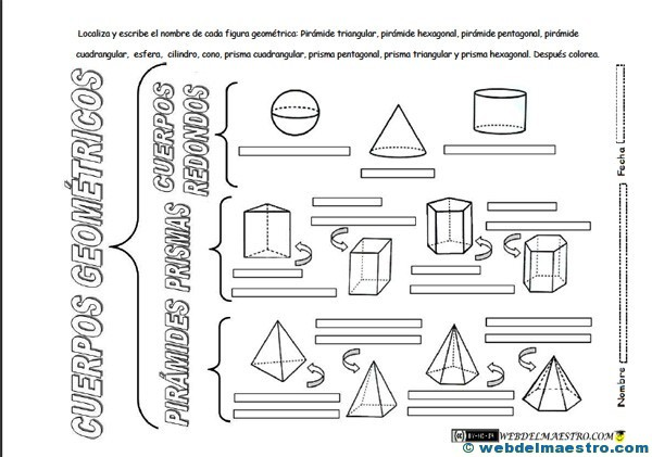 Figuras Geometricas Tridimensionales Primaria Web Del Maestro