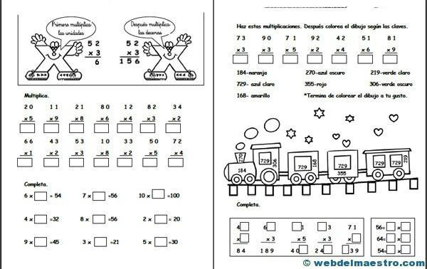 Multiplicaciones para niños