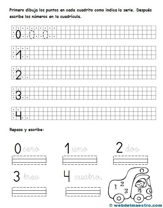 Escritura de números - Web del maestro