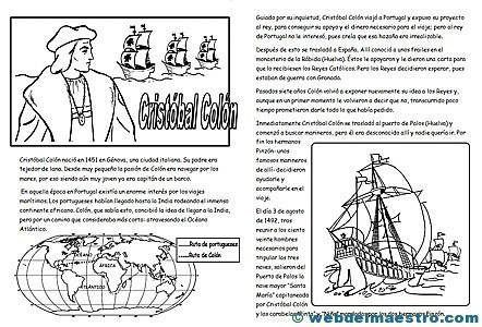 Cristóbal Colón para niños - Web del maestro