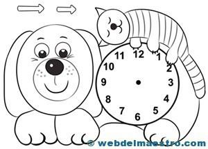 Dibujos Para Pintar De Un Reloj Dibujo Para Colorear Reloj Img 7100