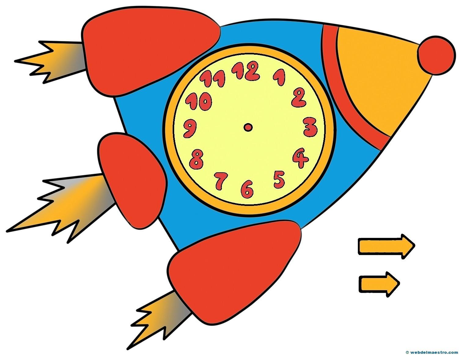 Relojes para aprender la hora 5 color web del maestro - Manualidades relojes infantiles ...