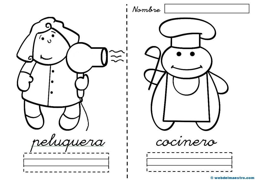 dibujos de profesiones para colorear