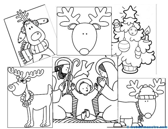 Dibujos de Navidad para colorear   Web del maestro