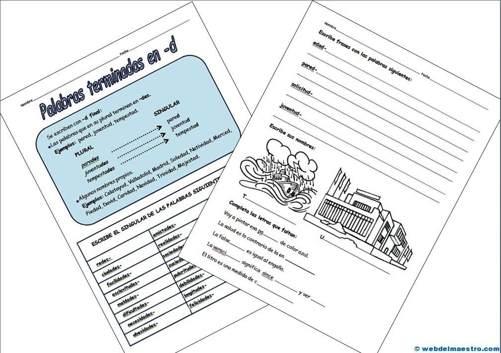 Palabras terminadas en -d- actividades-3