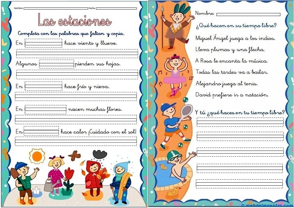 Fichas de lectoescritura - Web del maestro