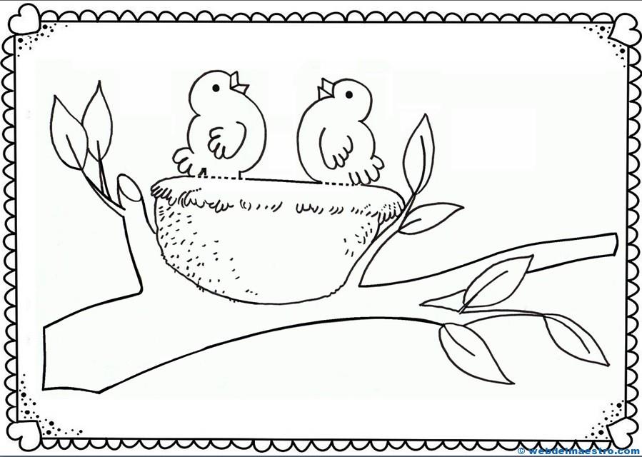 Manualidades fáciles-nido con pajarillos-terminación