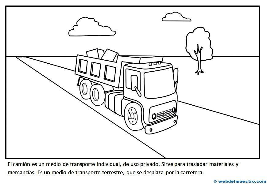 Transportes Por Tierra Para Colorear