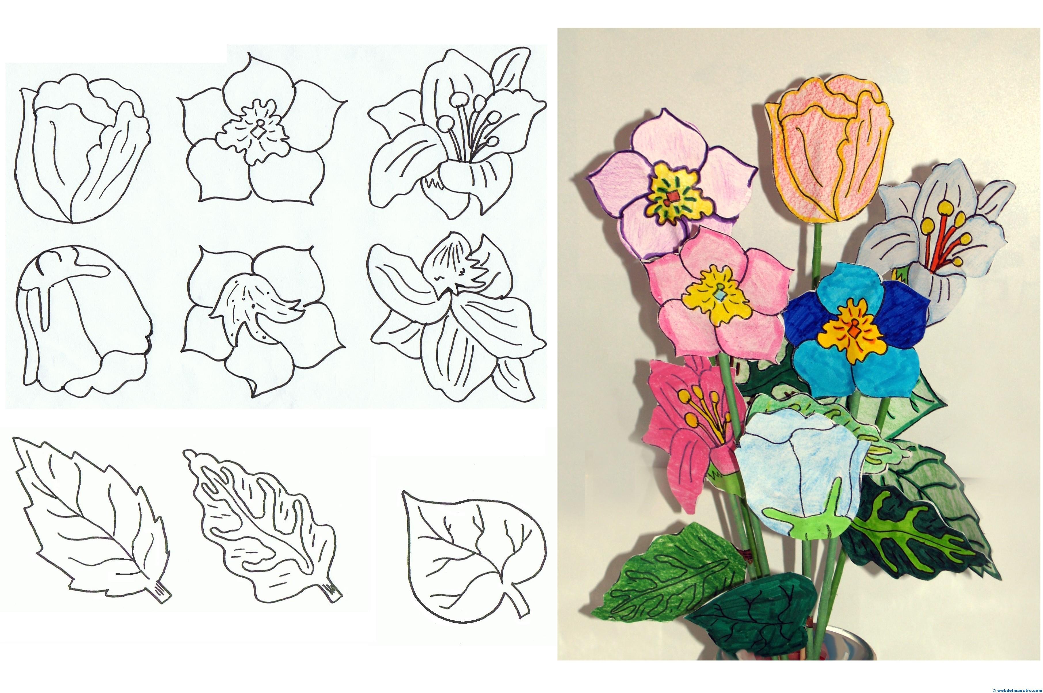 Flores De Papel Web Del Maestro