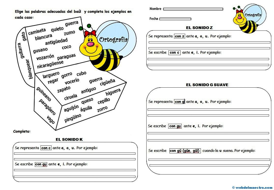 Ejercicios De Ortografía 5º Y 6º Nivel Web Del Maestro