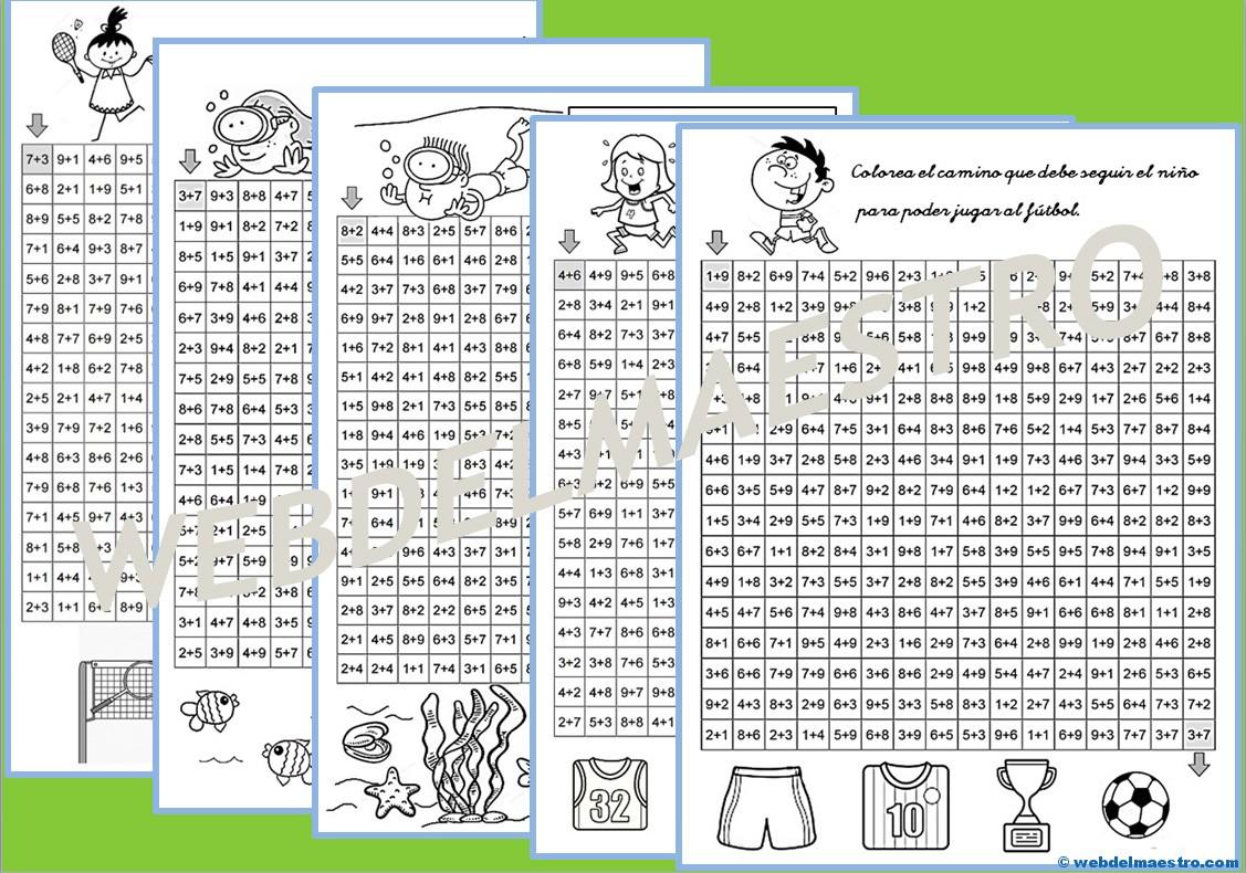 Juegos de matemáticas: Sigue las sumas - Web del maestro