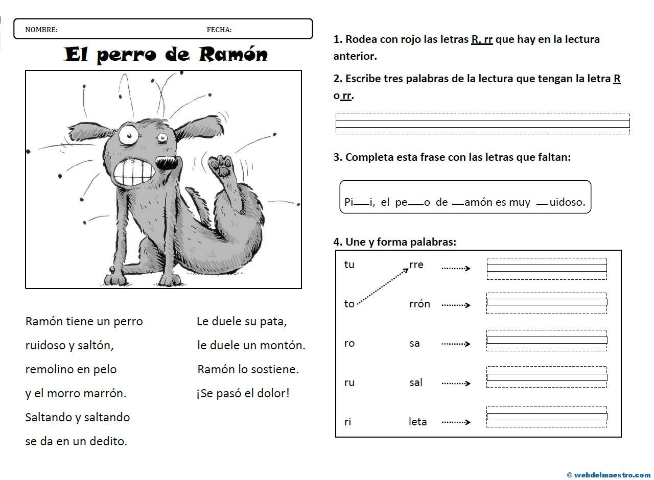 Lectura La Letra R Rr Web Del Maestro