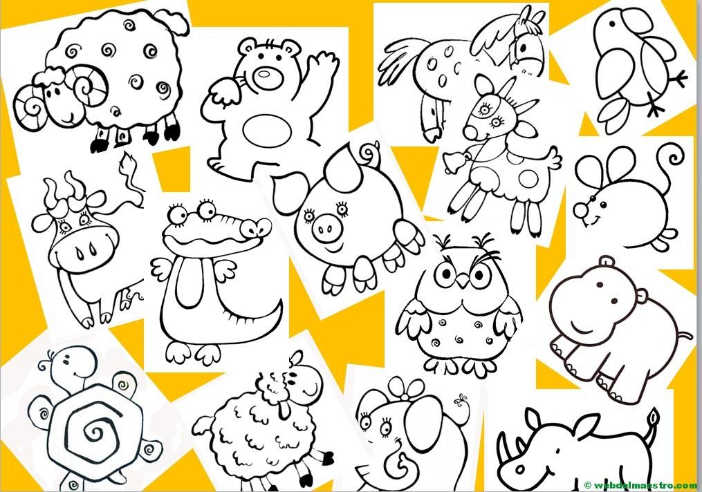 Dibujos De Animales Terrestres Para Colorear E Imprimir: Más De 200 Dibujos Para Pintar Y Colorear Gratis
