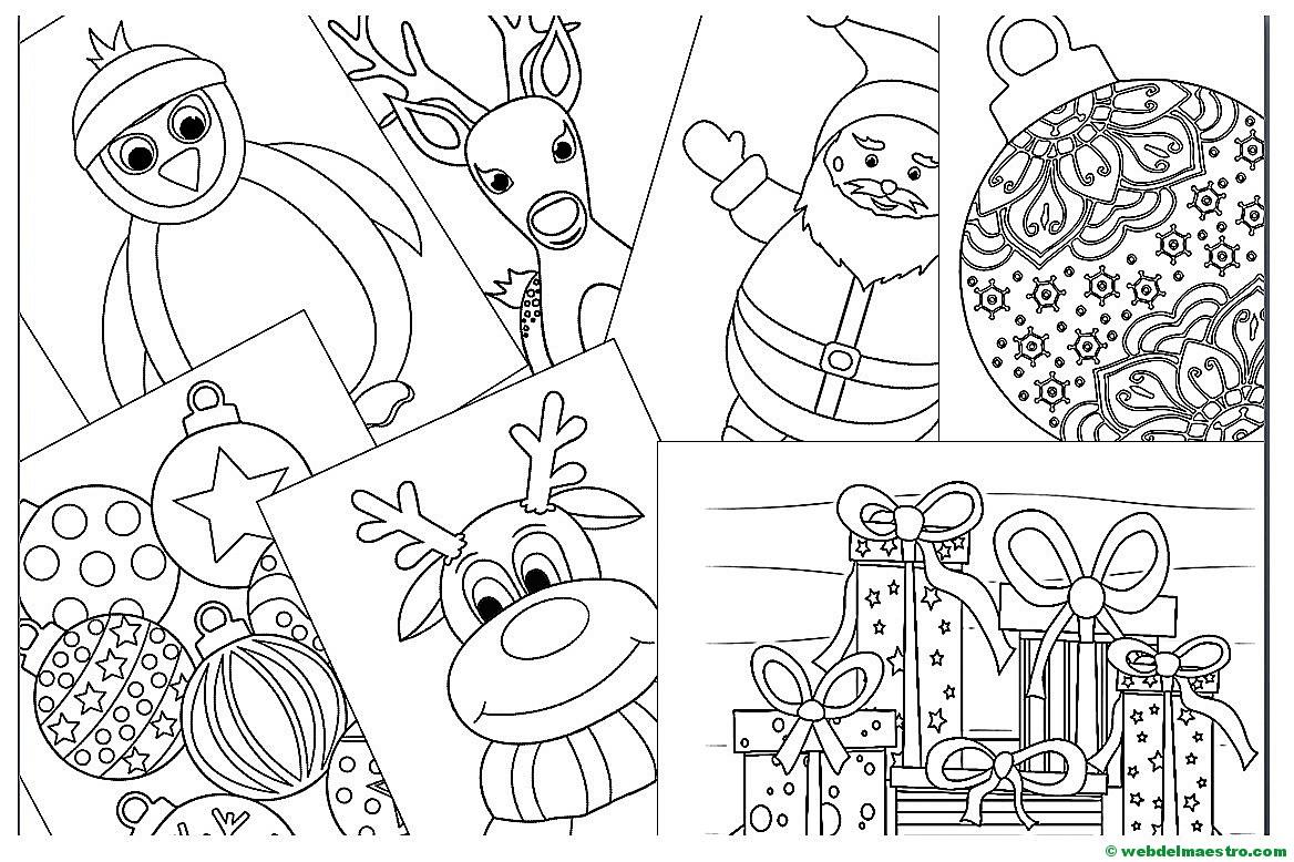 Imagenes De Motivos Navidenos Para Imprimir.Dibujos De Navidad Para Imprimir Web Del Maestro