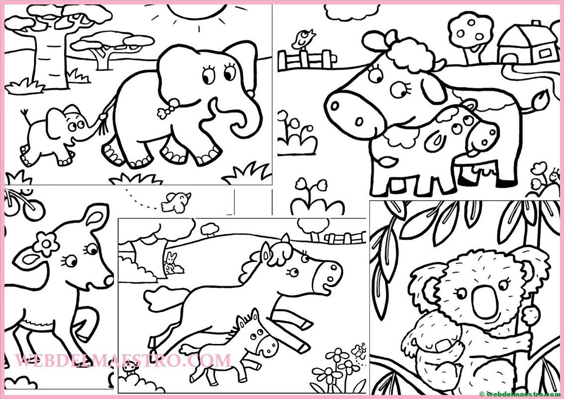 Imagenes De Niños Pintando Para Colorear: Dibujos Para Pintar Animales