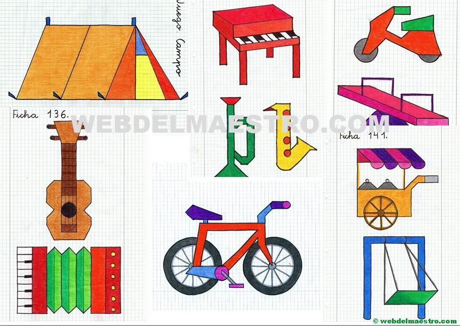 Dibujos en cuadrícula para copiar