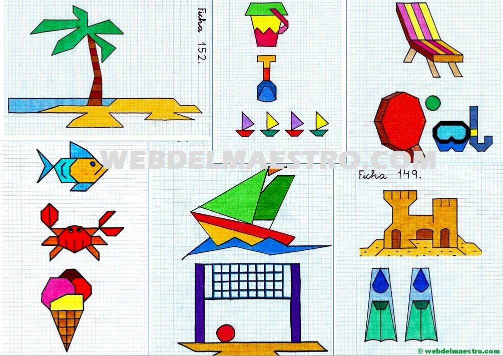 Dibujos En Cuadrícula Sobre La Playa