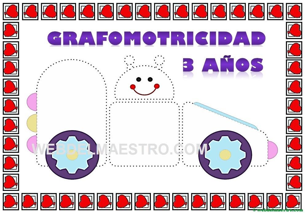 Grafomotricidad 3 Anos Para Imprimir Web Del Maestro