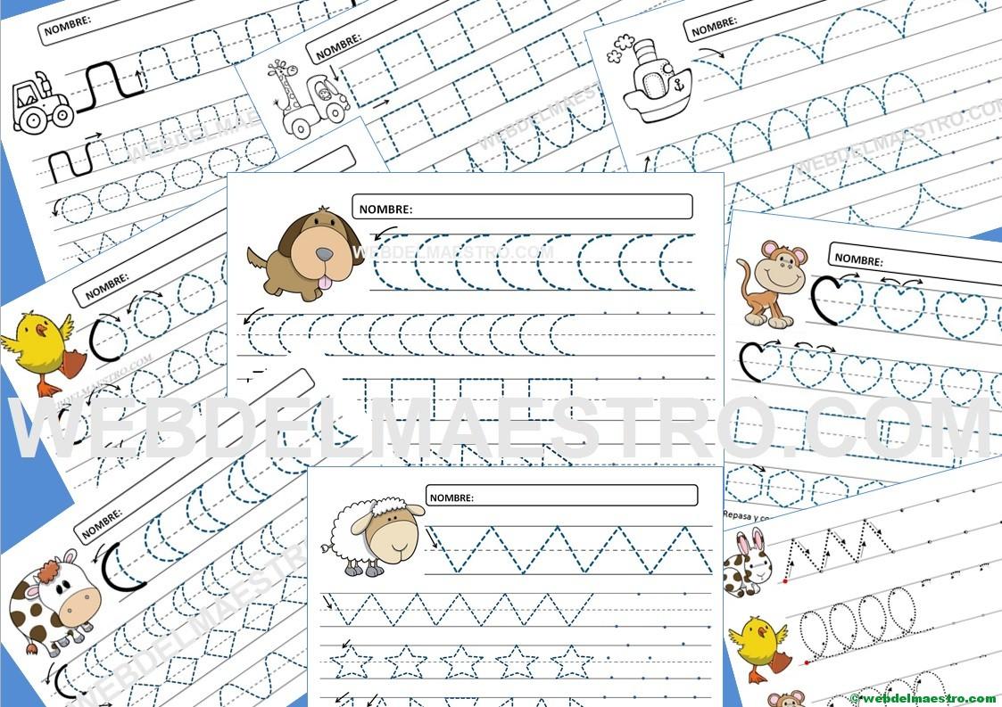 Fichas de grafomotricidad para imprimir - 4 y 5 años - Web del maestro