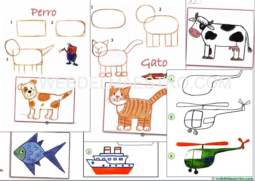 Dibujos fáciles | Aprender a dibujar - Web del maestro