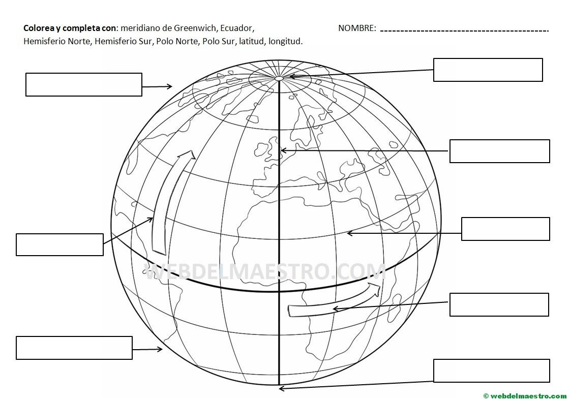 Paralelos y meridianos: información y actividades - Web del maestro