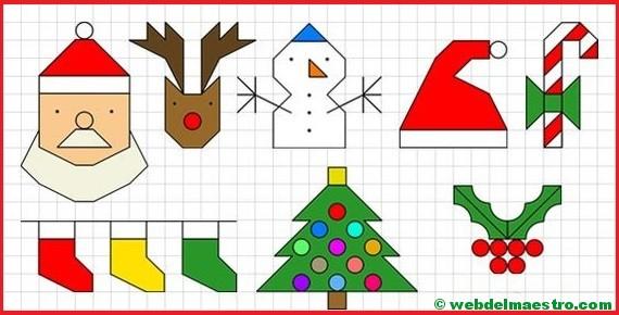 Dibujos De Navidad En Cuadrícula Web Del Maestro