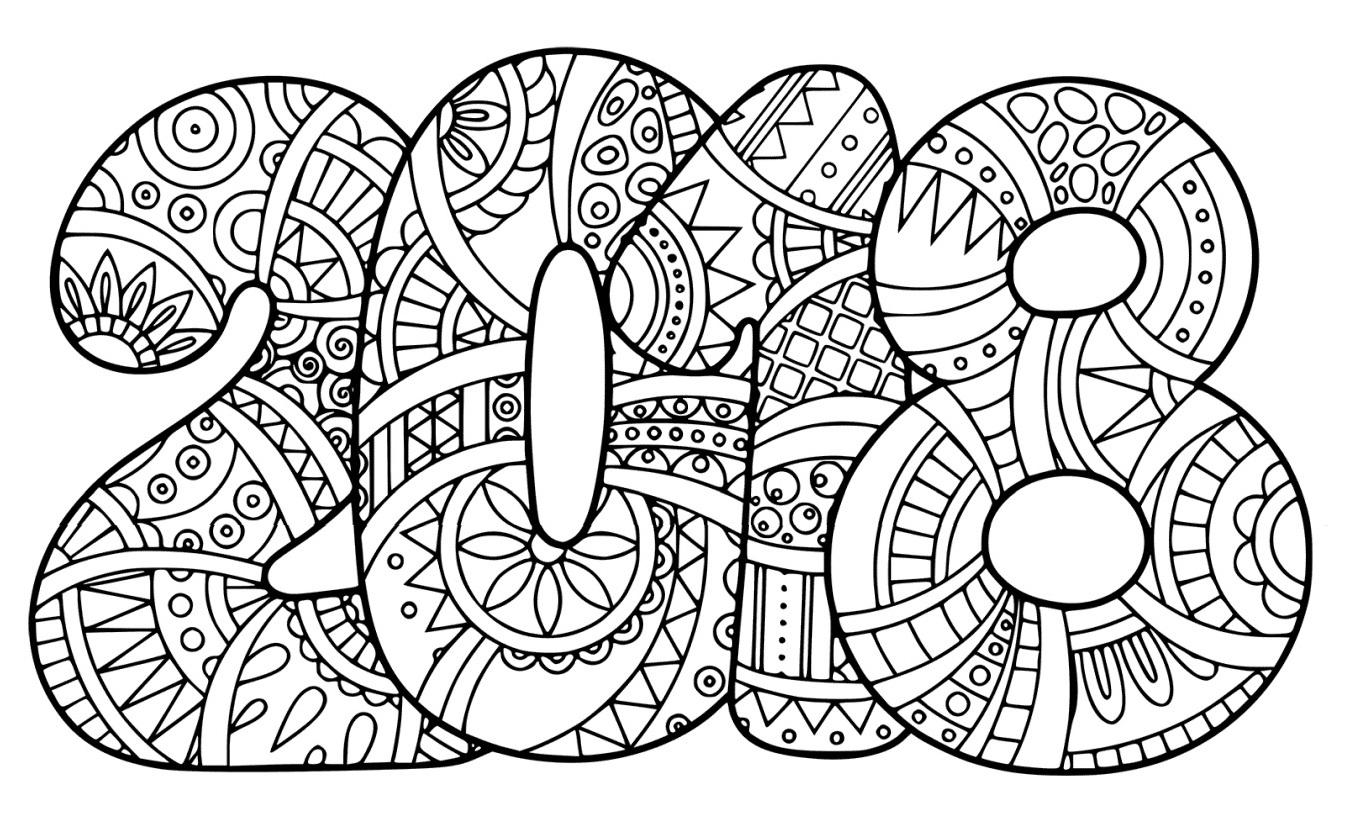 Dibujo de 2018 para colorear   Web del maestro