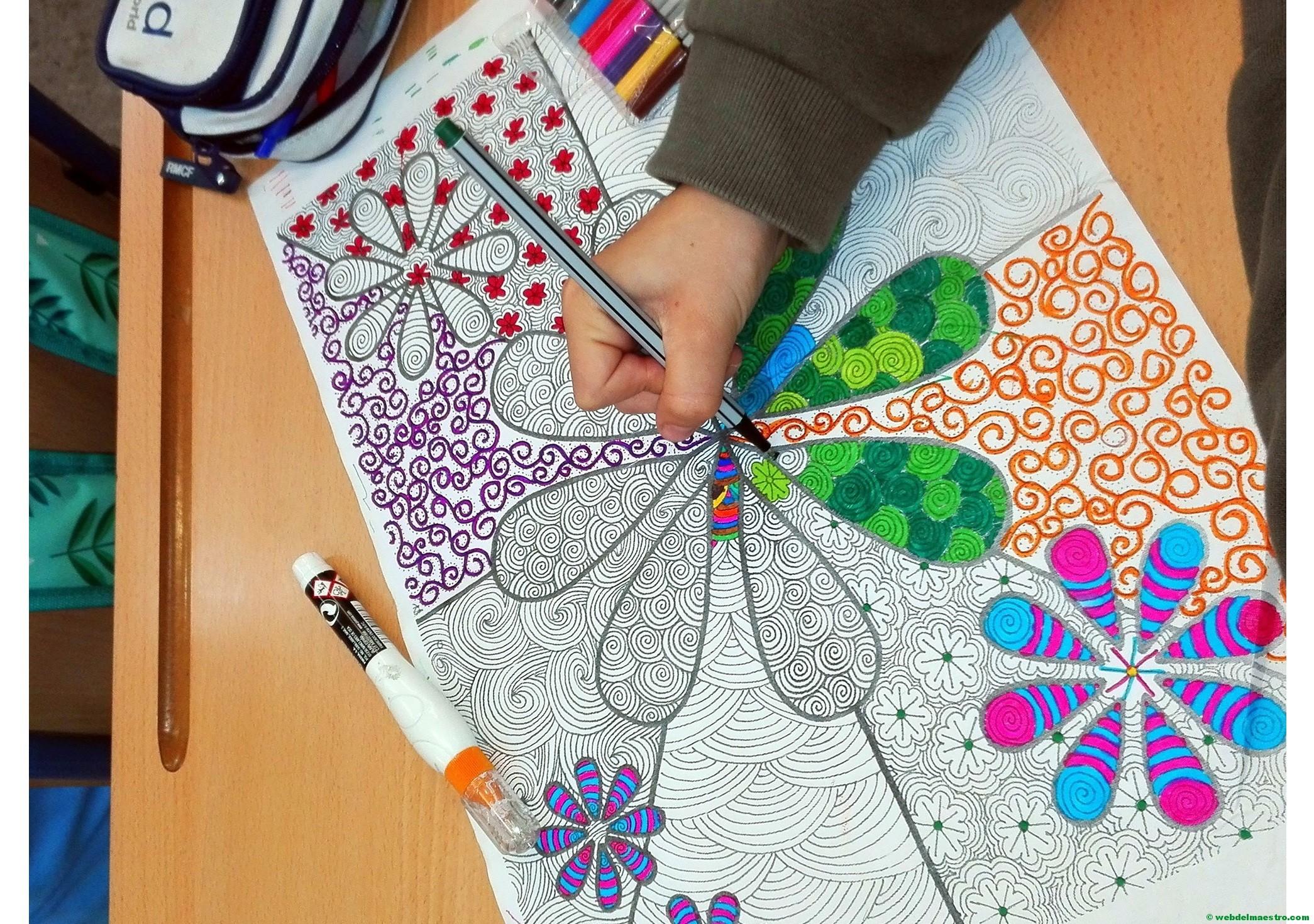 Dibujos para colorear e imprimir - Terapia antiestrés