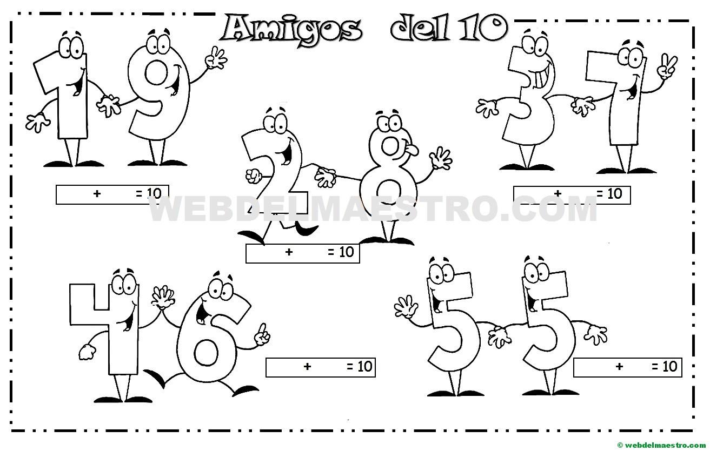 Los amigos del 10 - Actividades para imprimir (II) - Web