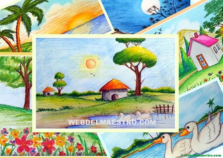 Paisajes Fáciles De Dibujar Web Del Maestro