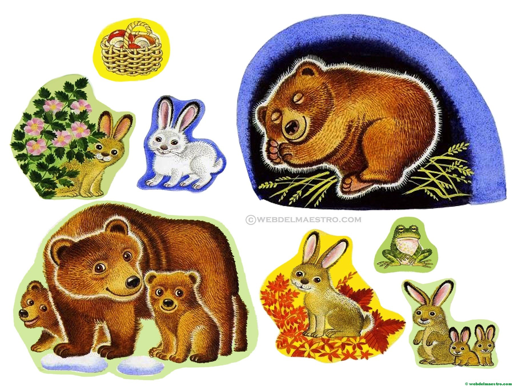 Las estaciones del año para niños - Imágenes para imprimir - Web del ...