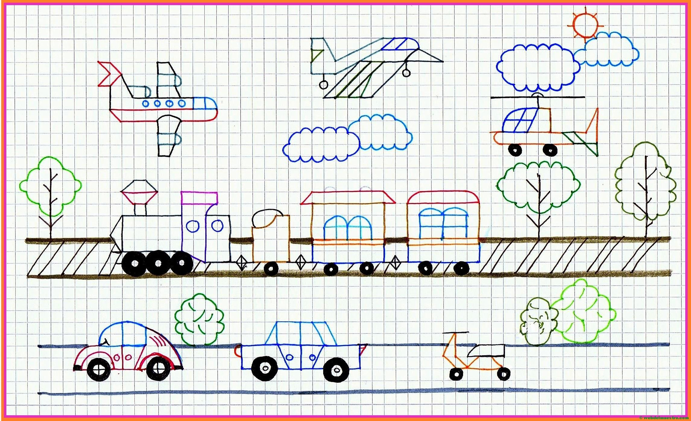 Dibujos en cuadrícula en color y para colorear - Web del maestro