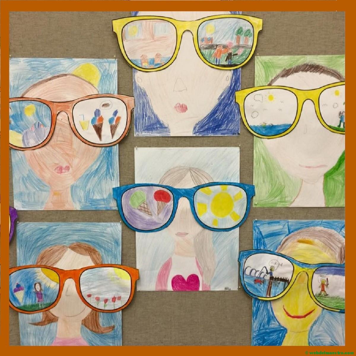 Dibujos de vacaciones realizados por niños