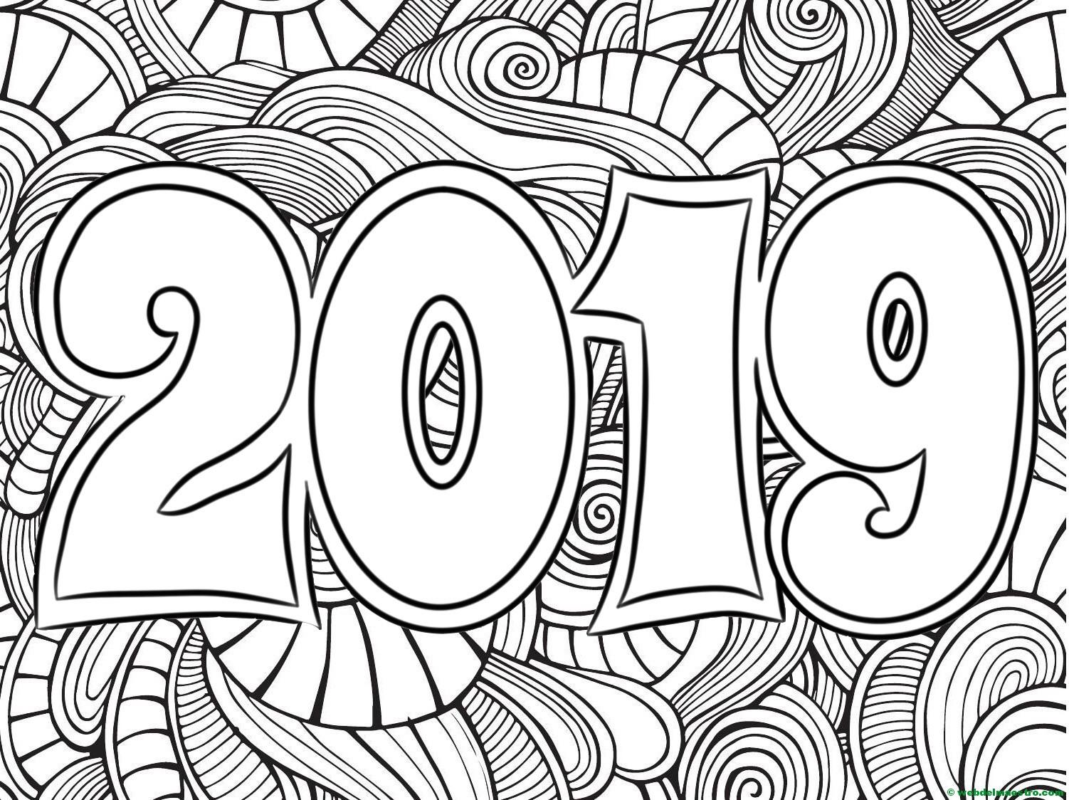 Dibujos para colorear | Dibujos de 2019   Web del maestro