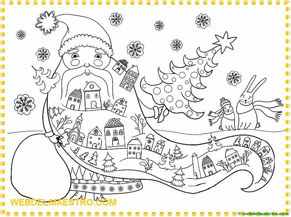 Papá Noel para pintar | Póster gigante - Web del maestro