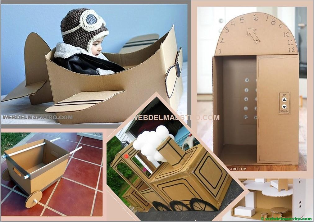 Reciclar Cajas De Carton Manualidades Con Carton Web Del Maestro