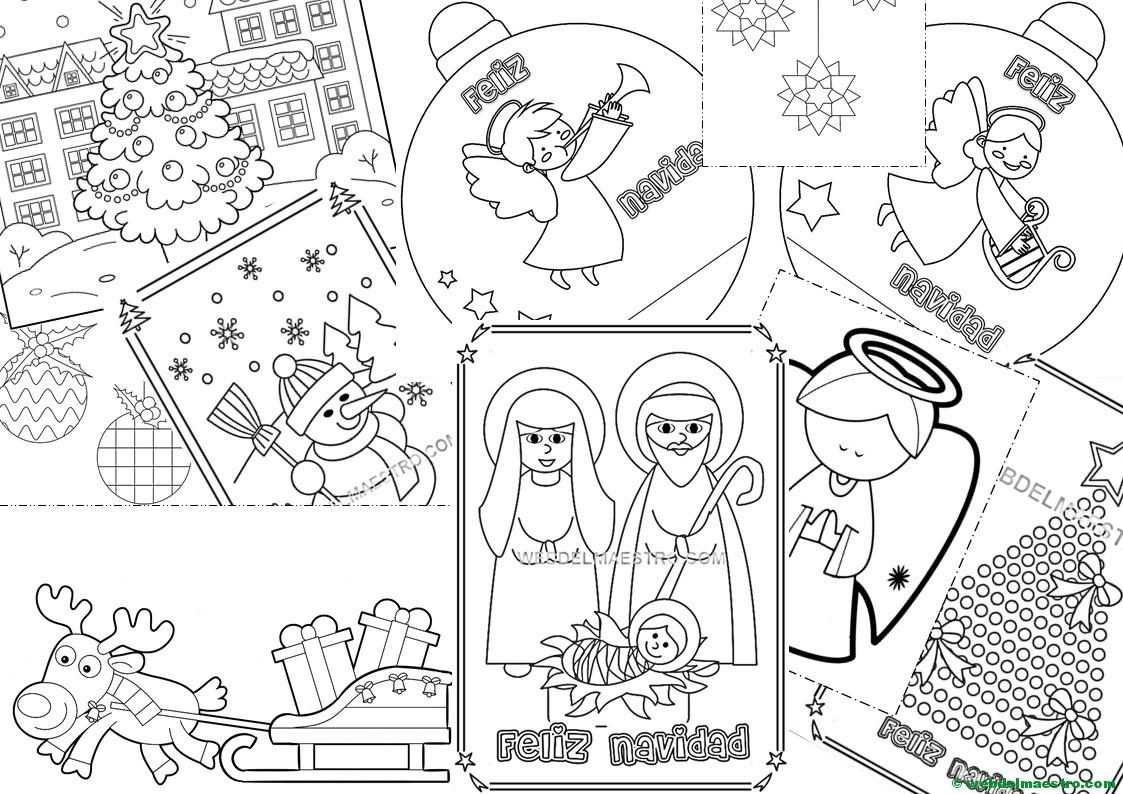 Dibujos Para Colorear Navidenos Imprimir: Postales Y Dibujos Navideños Para Imprimir Y Colorear