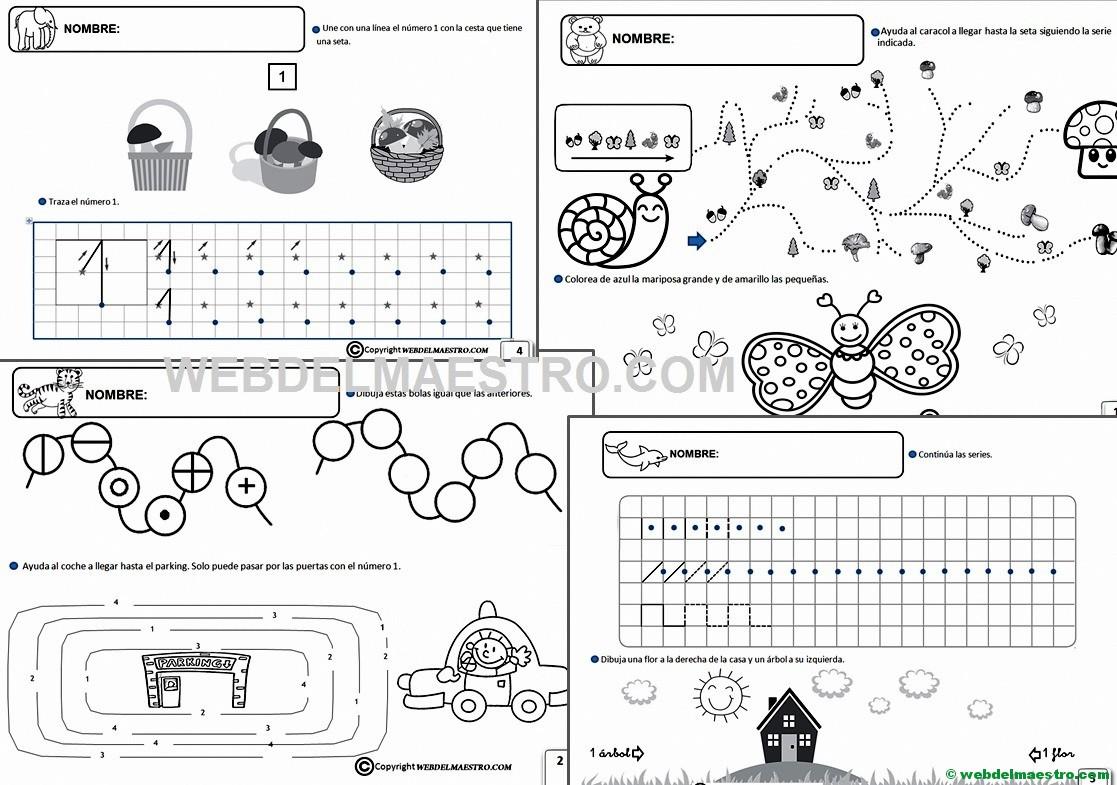 Fichas Infantil 5 años para imprimir - Web del maestro