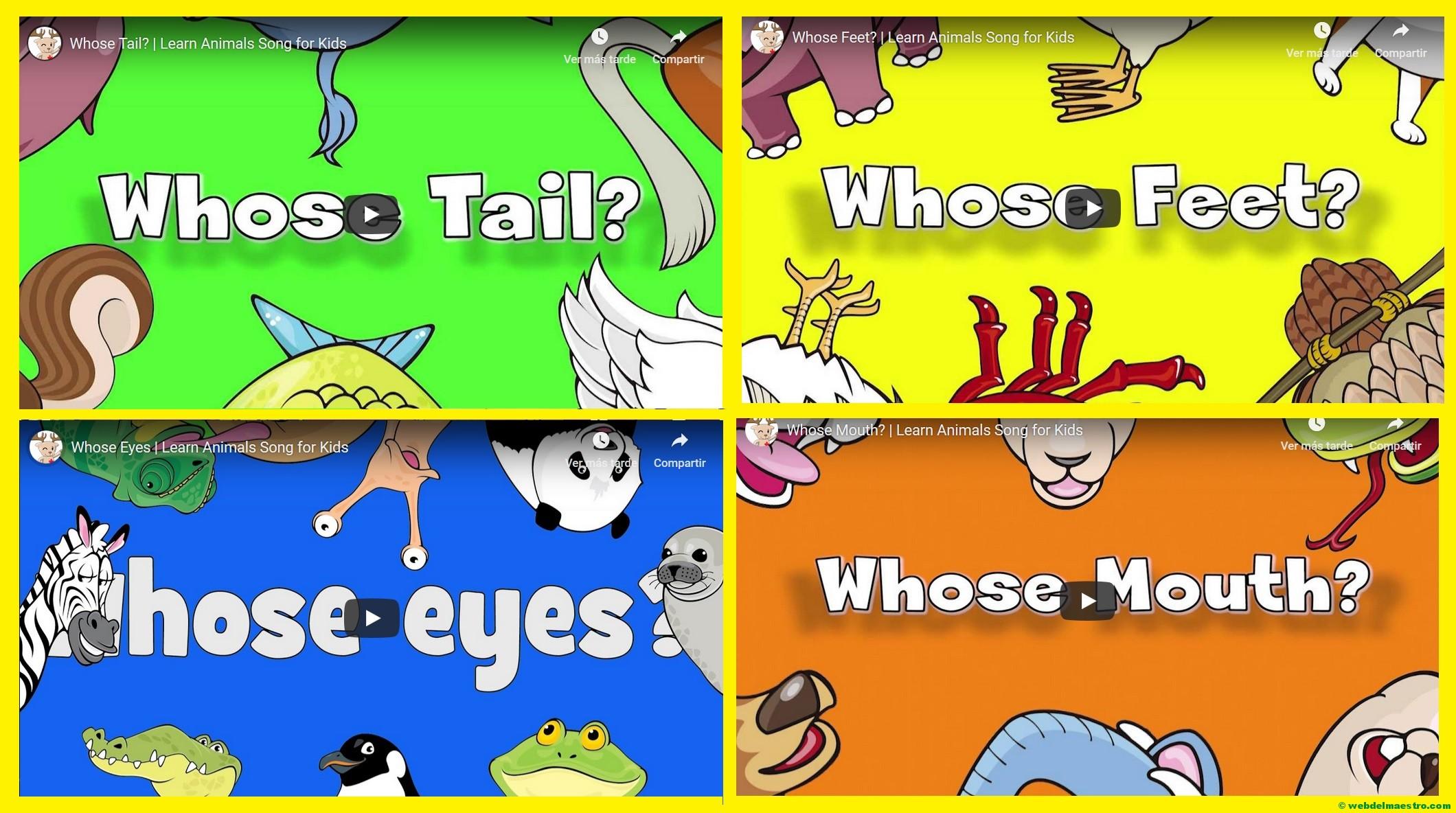Ingles para niños-nombres de animales en ingles