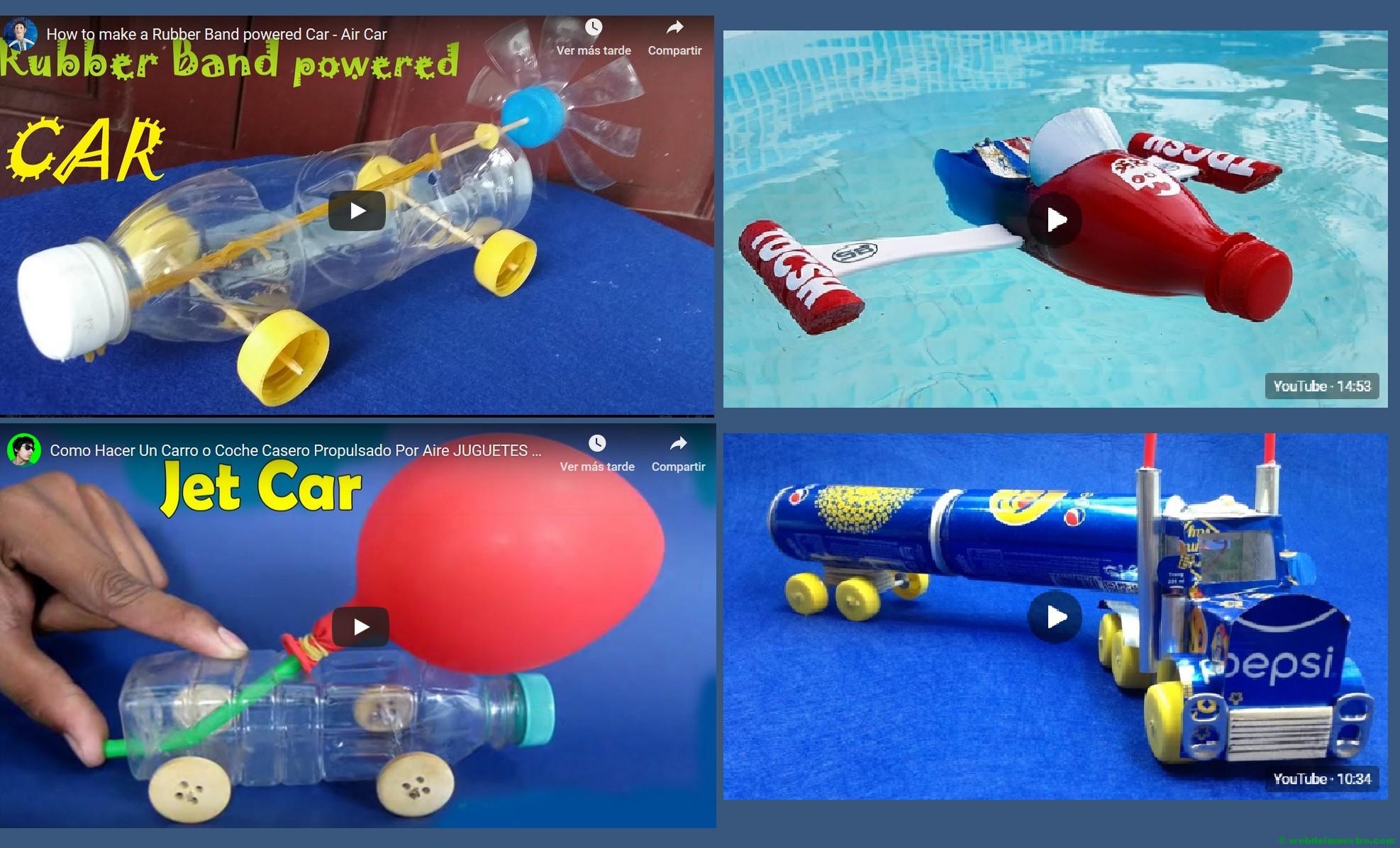 Juguetes caseros para niños | Juguetes reciclados - Web del maestro