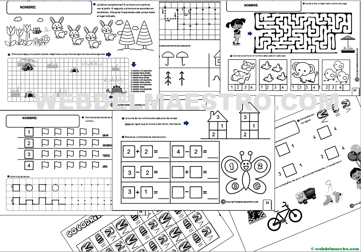 Fichas Lógico Matemáticas 5 Años Web Del Maestro