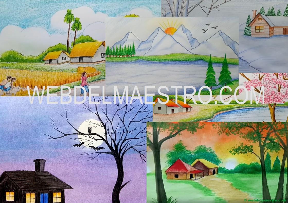 Como Pintar Un Paisaje Paisajes Dibujos Web Del Maestro