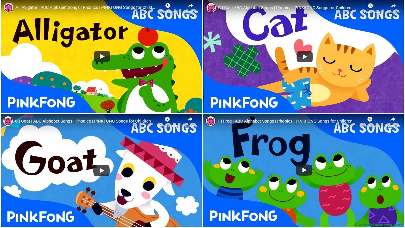 Pronunciación del alfabeto en inglés con canciones