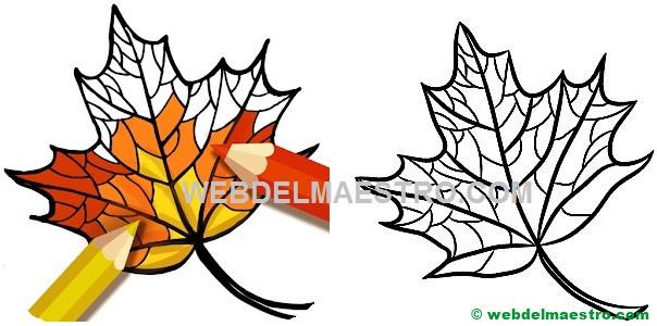 Dibujos del otoño para colorear