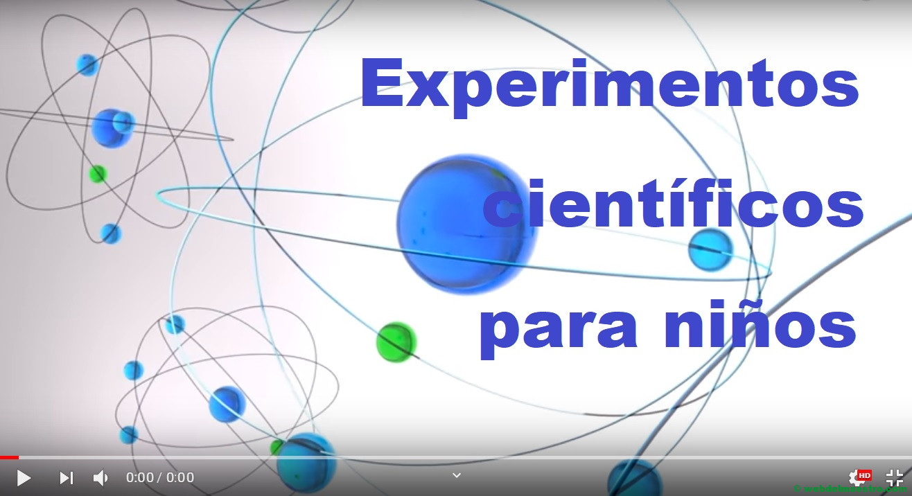 Experientos científicos para niños