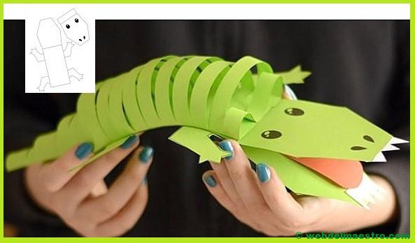 Manualidades para niños - Cocodrilo de papel