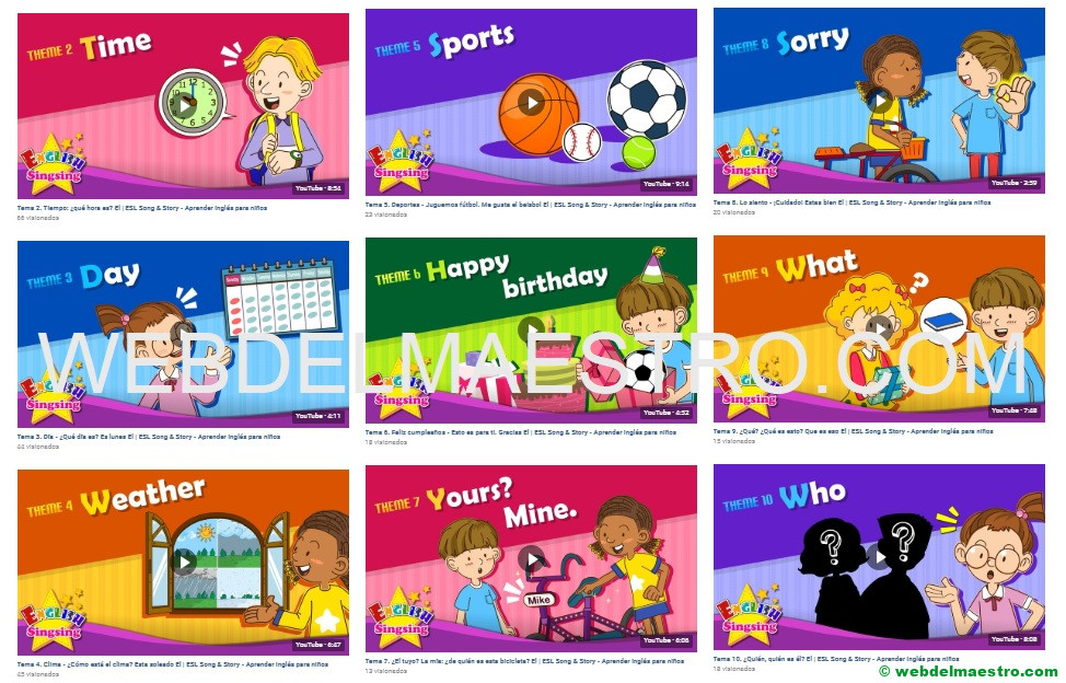 Inglés básico para niños